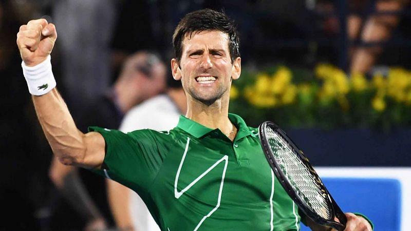 Djokovic celebrates his 5th Dubai title