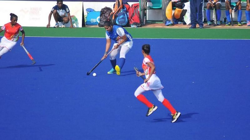 Hockey competition came to an end at the Khelo India University Games 2020