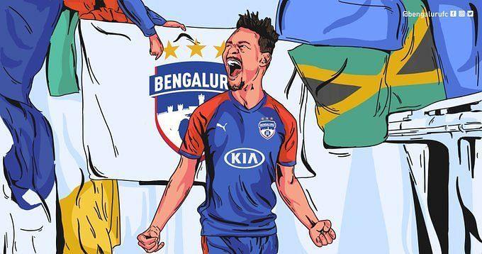 Bengaluru FC signed Jamaican striker Kevaughn Frater (Image Courtesy: Bengaluru FC)