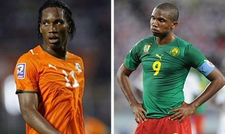 Didier Drogba and Samuel Eto