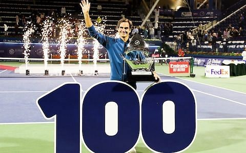 Federer lifts his 100th singles title at 2019 Dubai
