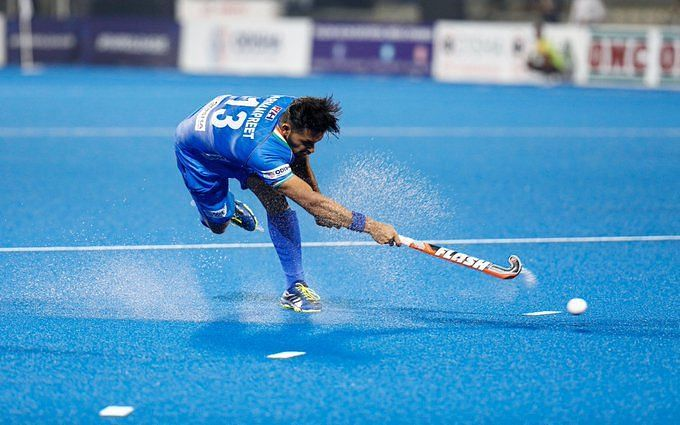 Harmanpreet Singh scored his first goal of the Pro League 2020 Image Courtesy: Hockey India