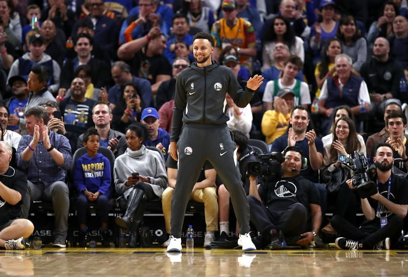 Steph Curry is inching ever closer to on-court action for the Golden State Warriors