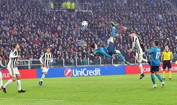 Ronaldo scores a wonder goal against his present club Juventus
