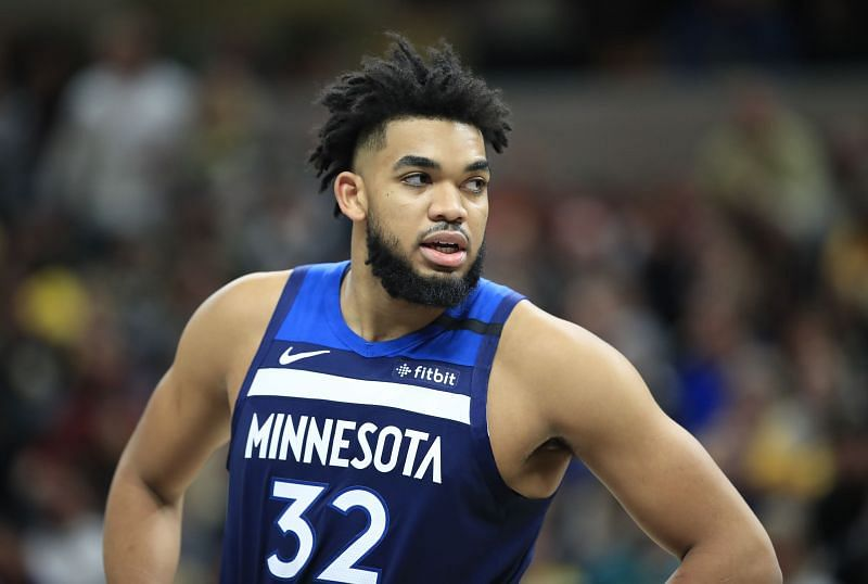 Karl-Anthony Towns represents the Minnesota Timberwolves