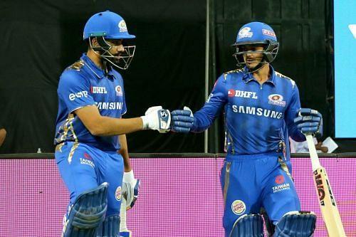 Rohit Sharma partnered De Kock in IPL 2020