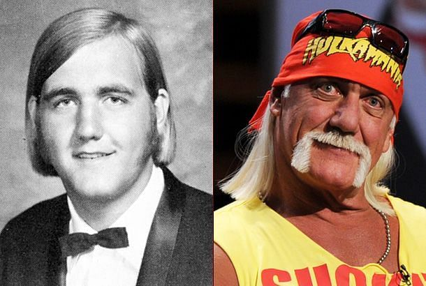 Hulk Hogan as a senior in high school (left) (courtesy of Snakkle)