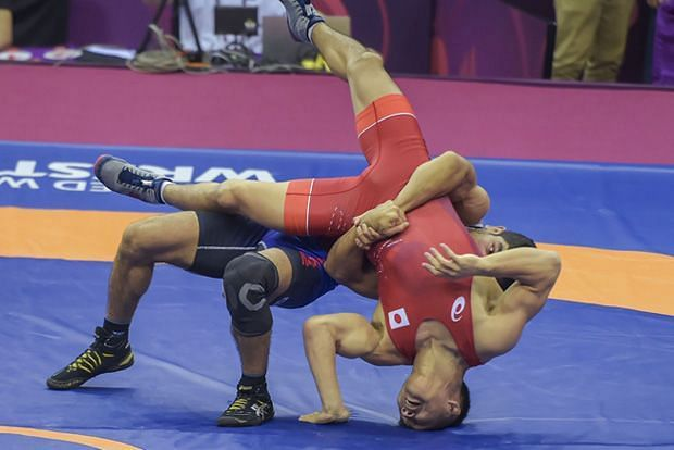 The action continued on the mat on Day 2 of the Asian Wrestling Championships in New Delhi