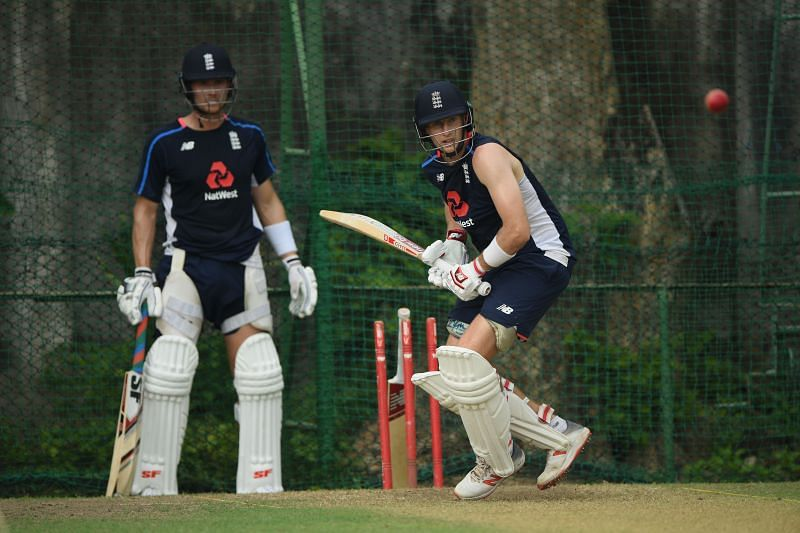 Joe Denly (L) and Joe Root (R)