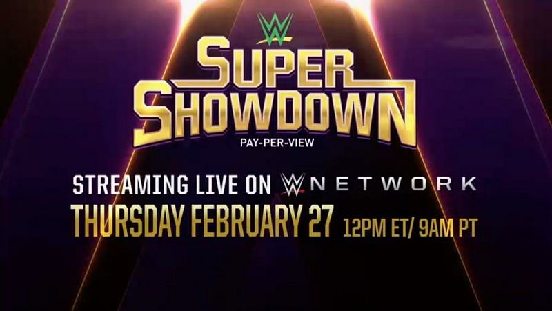 W WE has announced more matches for Super ShowDown