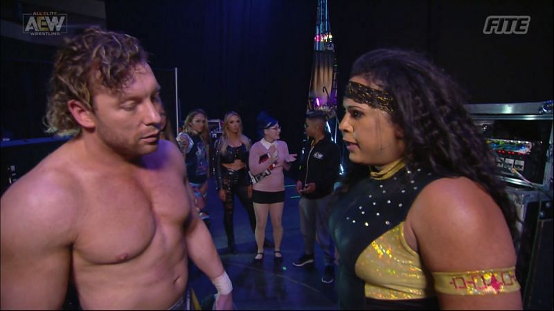 Kenny Omega and Nyla Rose had a very interesting confrontation