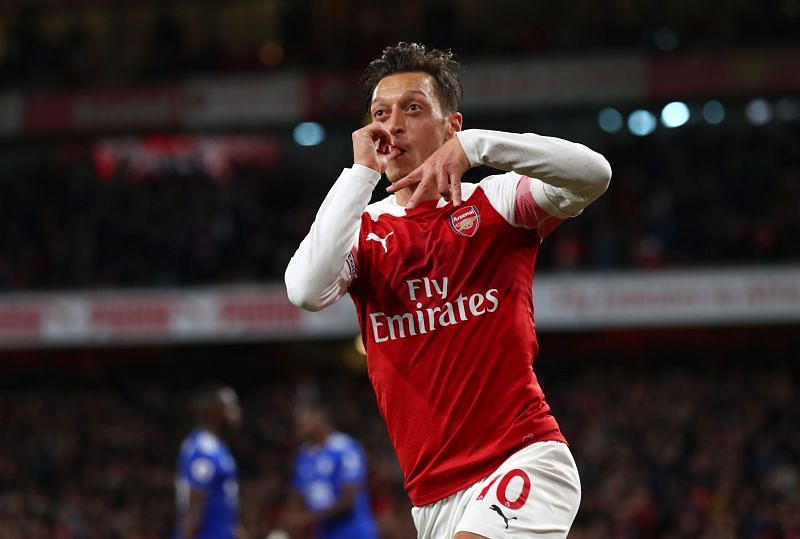Goal celebrations have been rare for Özil at Arsenal in recent times