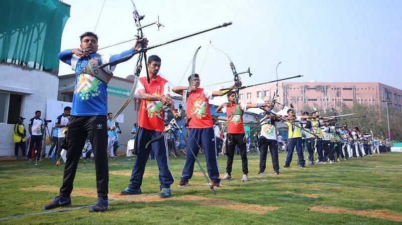 The archery action continues on at the Khelo India University Games 2020 in New Delhi