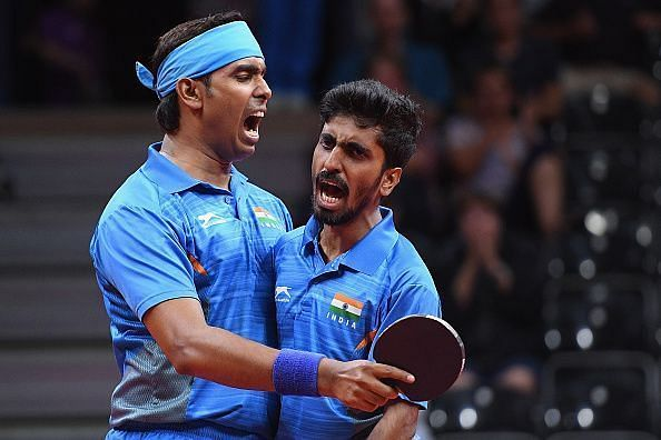 Sharath Kamal and G. Sathiyan - Through to the Hungarian Open Final