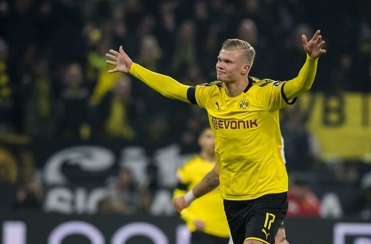 Erling Braut Haaland has scored 10 Champions League goals in only 7 games