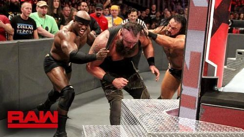 Lashley and McIntyre worked as a team on RAW