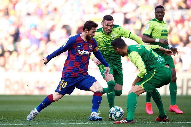 Lionel Messi got his second 4-goal haul against SD Eibar - La Liga