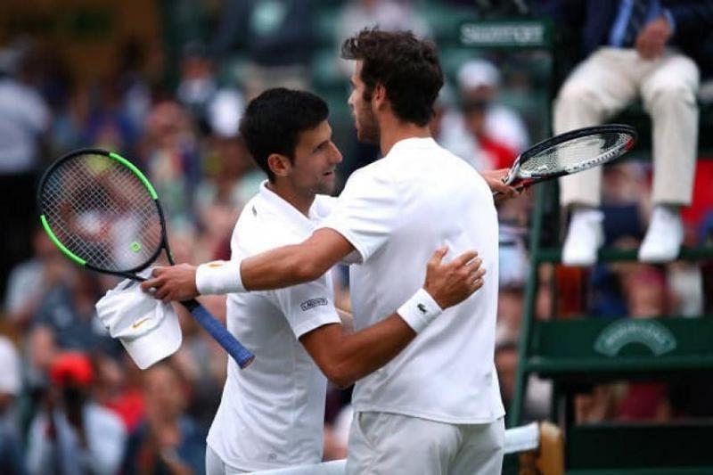Djokovic (left) vs Khachanov