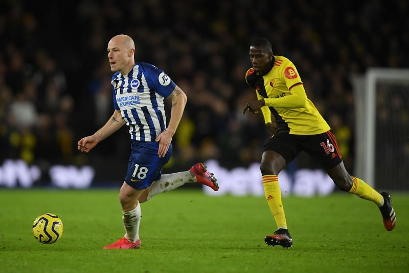 Aaron Mooy in action against Watford