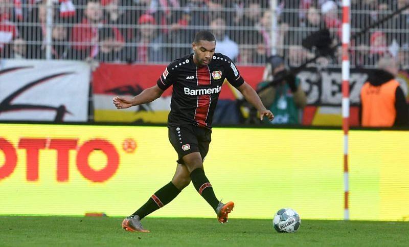 Jonathan Tah in action for Bayer Leverkusen