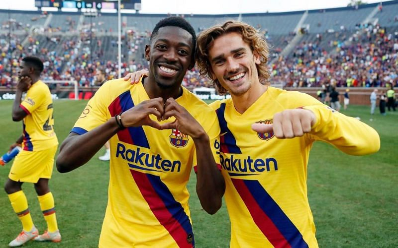 Both Ousmane Dembélé and Antoine Griezmann have struggled to get going