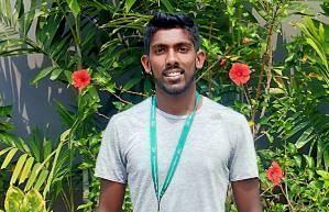 Abhinav Sanjeev Shanmugam cruised to a 6-1 6-1 win