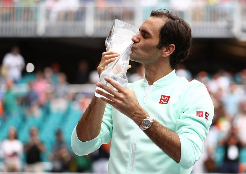 Federer won in Miami last year