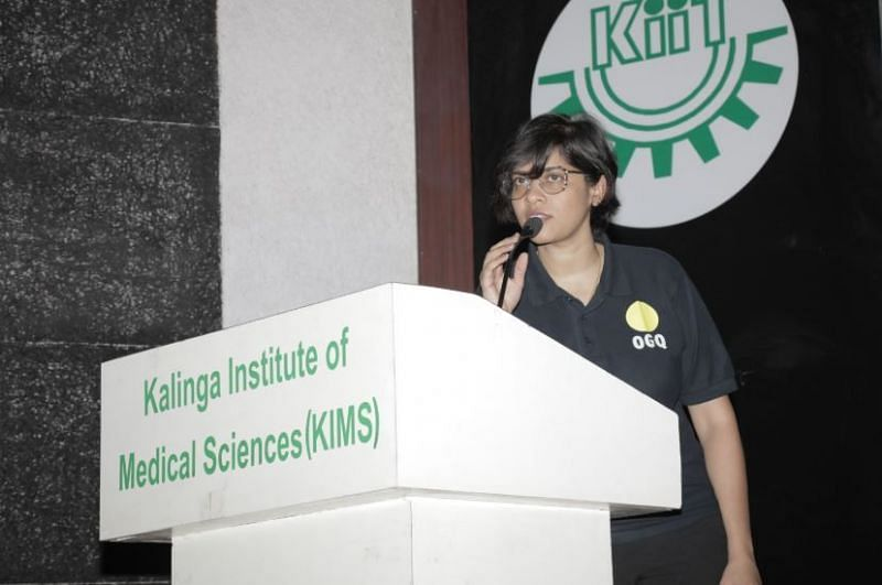 Dr. Poornima Raman speaks to the participants of the Khelo India University Games