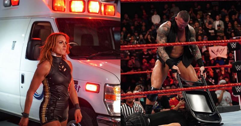 Becky was brutally attacked while Edge