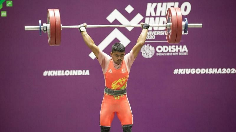 The weightlifting action continued at the Khelo India University Games 2020