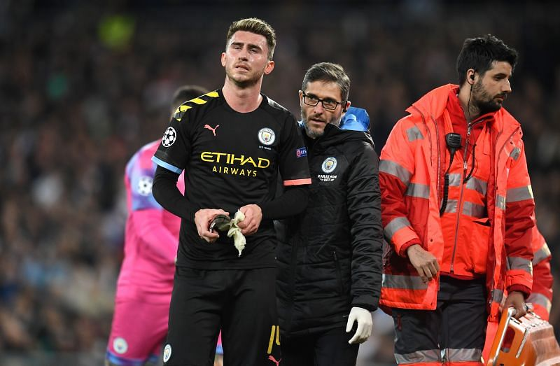 Aymeric Laporte could be missed by Pep Guardiola in the second leg.