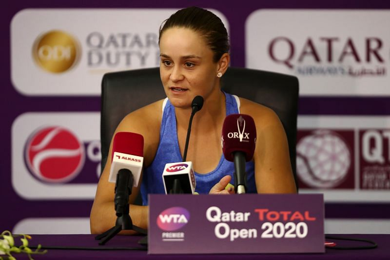 Ashleigh Barty is the top seed at the Qatar Open this year
