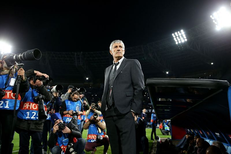 Quique Setién must embrace the pressure that comes with managing Barcelona