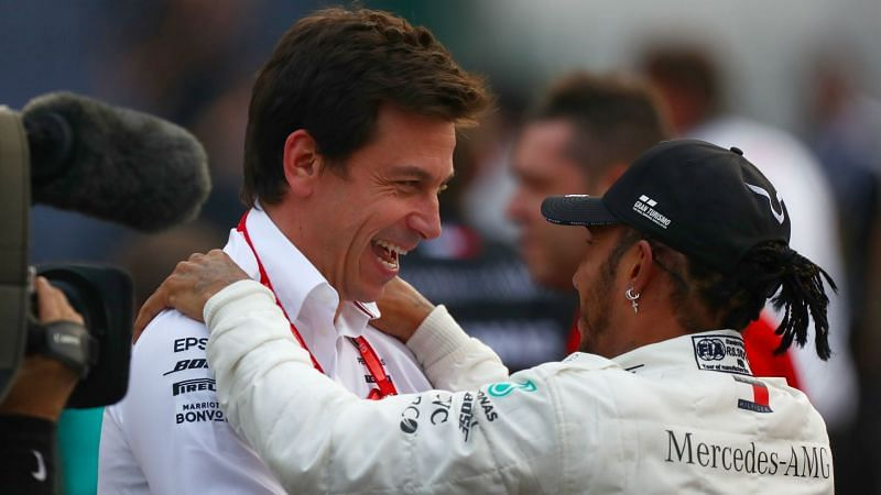 Toto Wolff and Lewis Hamilton - cropped