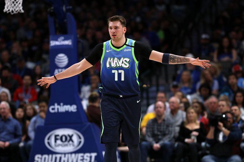 Luka Doncic represents the Dallas Mavericks
