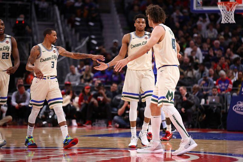 Milwaukee Bucks v Detroit Pistons