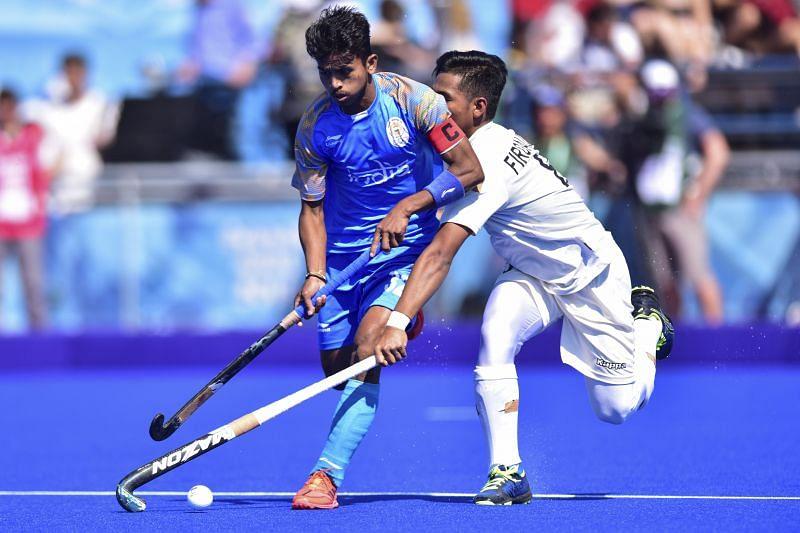 Vivek Prasad led the Indian U-18 team in Youth Olympics 2018