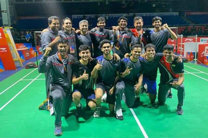 The jubilant Indian men