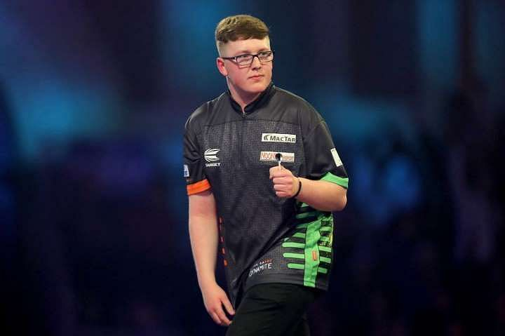 Keane Barry played against Vincent Van der Voort at Ally Pally in 2020.
