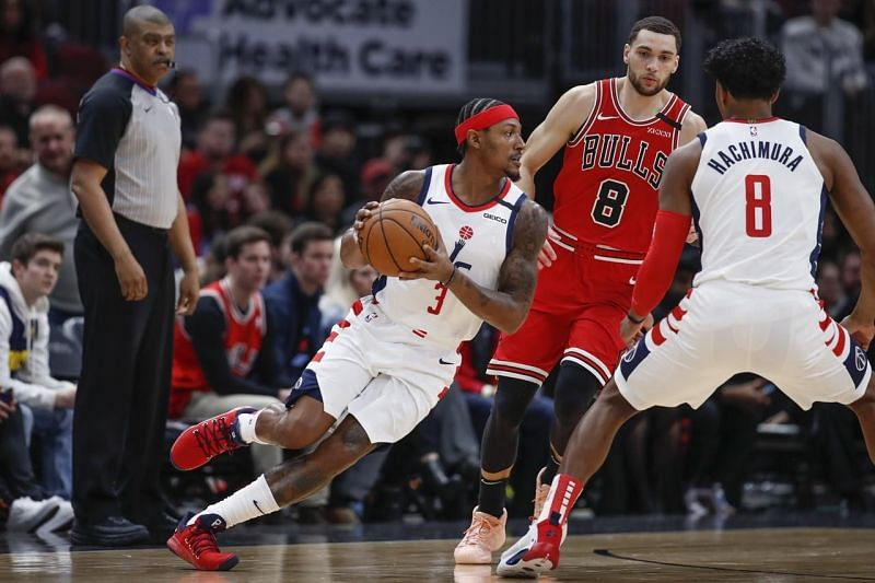 Beal in action against the Bulls