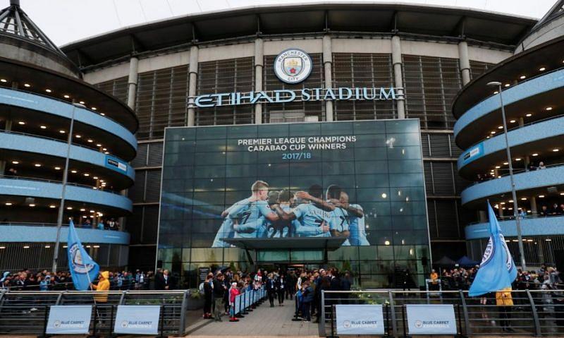 The Etihad Stadium in Manchester