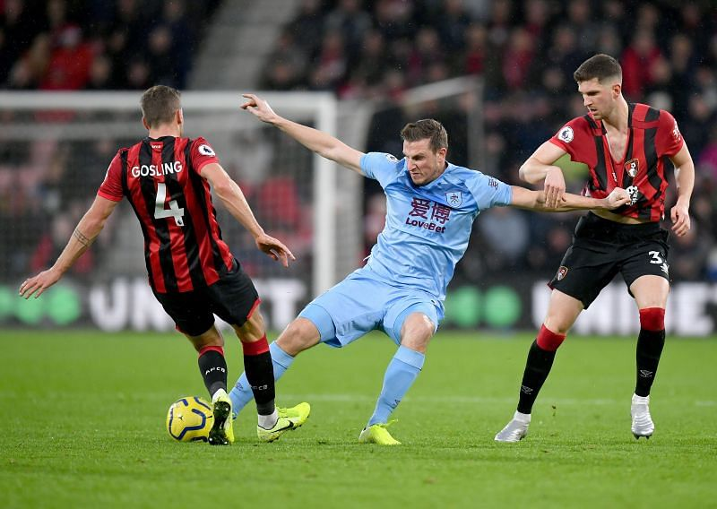 Burnley host AFC Bournemouth in the Premier League