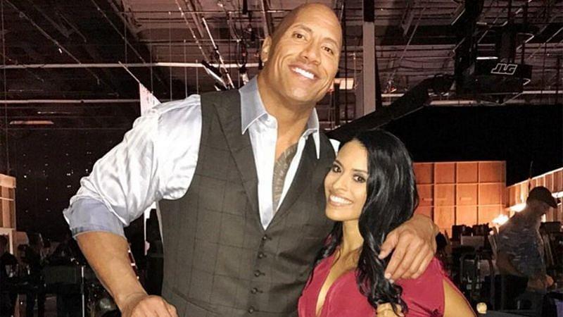 The Rock and Zelina Vega