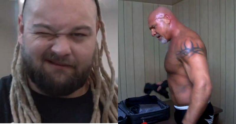 Bray Wyatt and Goldberg.