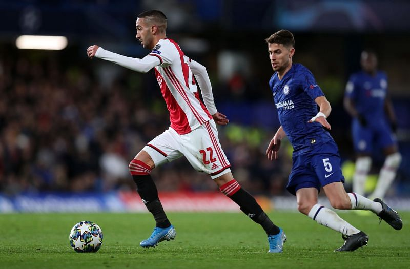 Ziyech against his next club Chelsea