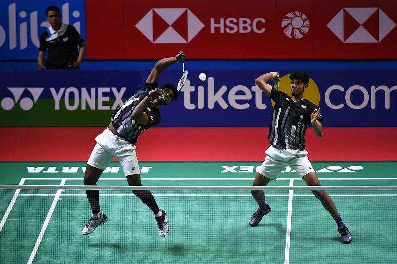 Chirag Shetty and Satwik Sai Reddy in action (file photo)