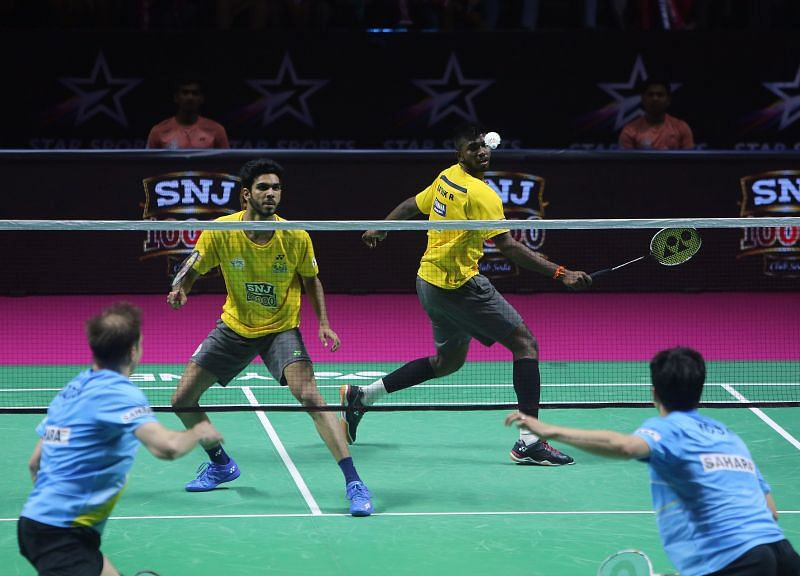 Dhruv and Satwik in action