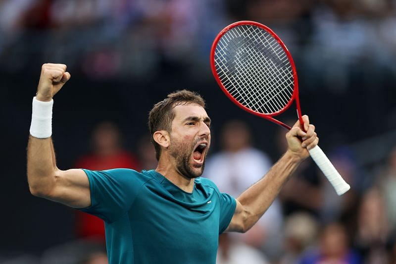 Marin Cilic exults in happiness