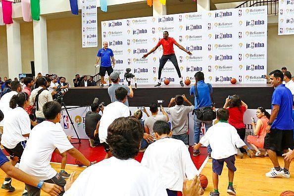 Kevin Durant during his time in India in 2017