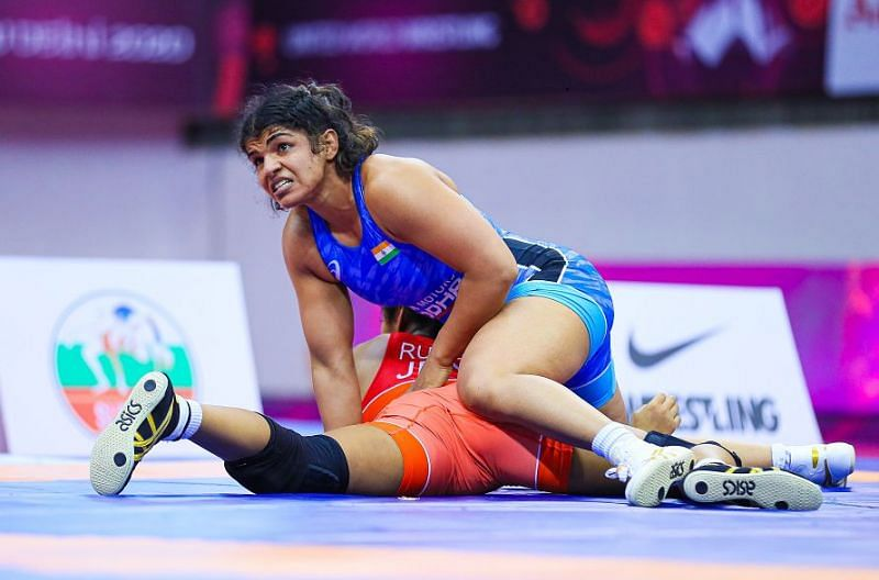 Sakshi in action during her final bout